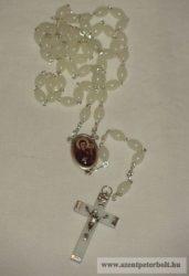 Exkluzív rózsafüzér Máriapócsi Szűz Mária képpel (világítós)