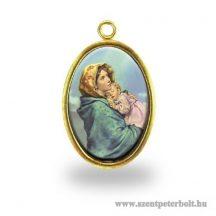 Mária kis Jézussal érem