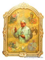 Boldog II. János Pál pápa faplakett