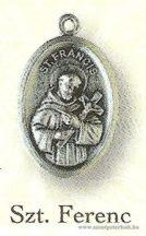 Szent Ferenc ezüstözött érem