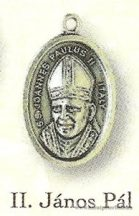 Boldog II. János Pál pápa ezüstözött érem