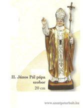 Boldog II. János Pál pápa szobor 20 cm