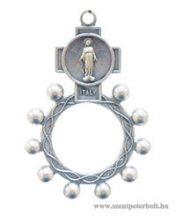 Díszes rózsafüzérgyűrű