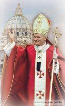 Szent II. János Pál pápa hűtőmágnes