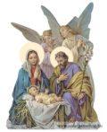 Karácsonyi hűtőmágnes -Szent Család-Angyalok
