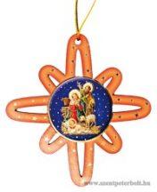 Karácsonyfa dísz csillag 3 db /cs