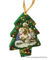 Karácsonyfa dísz karácsonyfa 4 db /cs
