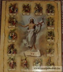Kasírozott ikon Keresztút