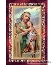 Szent József kis Jézussal imakép