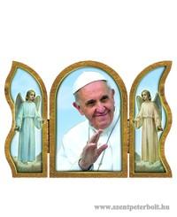 Ferenc Pápa aranyozott szárnyas faplakett