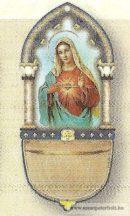 Mária szíve szenteltvíztartó