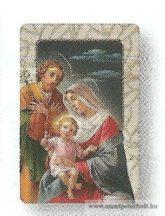 Szent Család hűtőmágnes-faplakett
