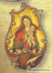 Mária kis Jézussal szenteltvíztartó műgyanta