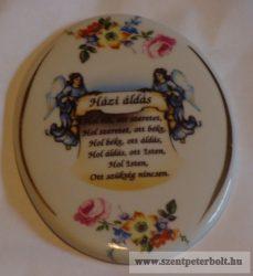 Porcelán Házi Áldás ovális