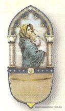 Mária kis Jézussal szenteltvíztartó