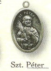 Szent Péter ezüstözött érem