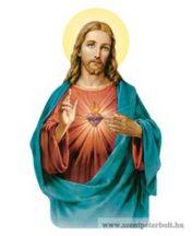 Fa hűtőmágnes (Jézus szíve)