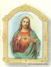 Jézus szíve faplakett világos