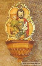 Szent József kis Jézussal szenteltvíztartó