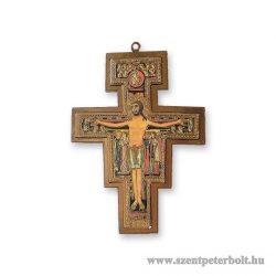 Aranyozott Szent Damiano kereszt