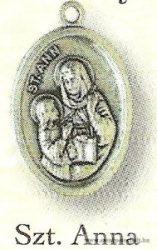 Szent Anna ezüstözött érem