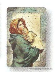 Mária kis Jézussal hűtőmágnes-faplakett