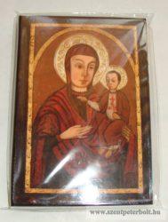 Kasírozott ikon Máriapócsi Szűzanya képeslap méret