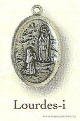 Lourdes-i ezüstözött érem