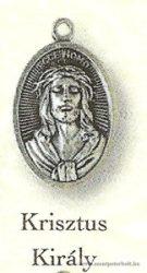 Krisztus király ezüstözött érem