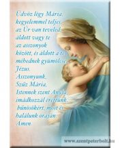 Hűtőmágnes Üdvözlégy Mária
