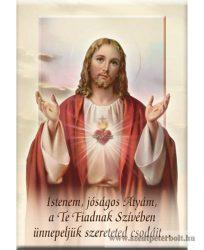 Hűtőmágnes Jézus szíve