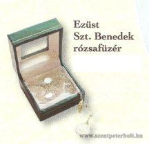 Ezüst Szent Benedek rózsafüzér