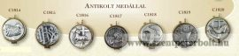 Aranyozott ostyatartók antikolt medállal