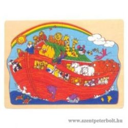 Nóé bárkája fa puzzle 29 db-os