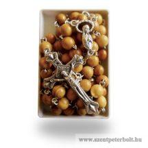 Eredeti olivafa gömbölyű szemekből rózsafüzér