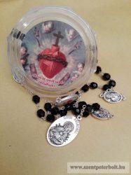 Jézus 5 Szent sebe rózsafüzér dobozban