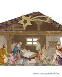 Aranyozott 3D-s Betlehem