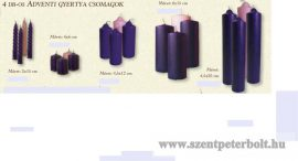 4 darabos adventi gyertya csomagok