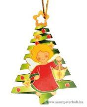 Karácsonyfa dísz fa 3 db /cs
