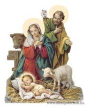 Karácsonyi hűtőmágnes -Szent Család
