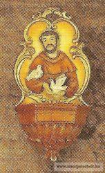 Szent József szenteltvíztartó