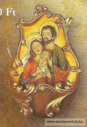 Szent család szenteltvíztartó műgyanta