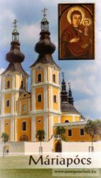 Aranyozott imakép 6,5x10,5 cm Máriapócs