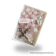 Rózsakvarc ásvány rózsafüzér