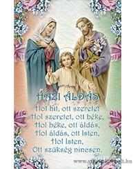 Házi áldás imakép
