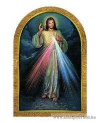 Aranyozott faplakett (Irgalmas Jézus)