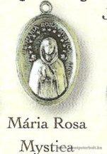 Mária Rosa Mystica ezüstözött érem