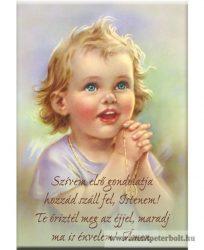 Hűtőmágnes gyerek imával