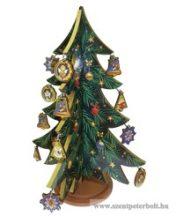 Aranyozott 3D-s karácsonyfa, összerakható